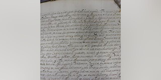 The manuscript discovered at Lambeth Palace Library. (Lambeth Palace Library)