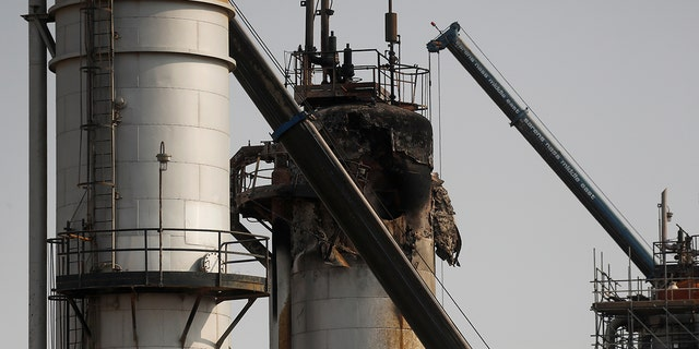 The extent of the damage at the oil facility following the strikes.