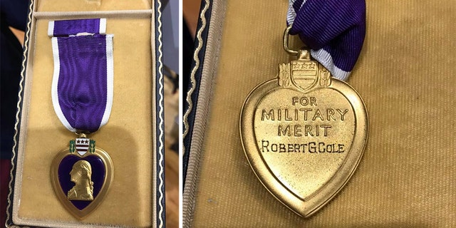 A Purple Heart belonging to Medal of Honor recipient Robert G. Cole turned up at a Long Island gun show after being lost for decades.