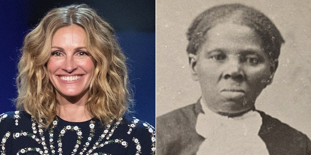 Westlake Legal Group Roberts-Tubman-Reuters-Library-of-Congress Hollywood exec suggested Julia Roberts should play Harriet Tubman Joseph Wulfsohn fox-news/us/personal-freedoms/proud-american fox-news/science/archaeology/history fox-news/entertainment fox news fnc/entertainment fnc article 39140df7-87a1-5f87-b000-6075c033c9a5