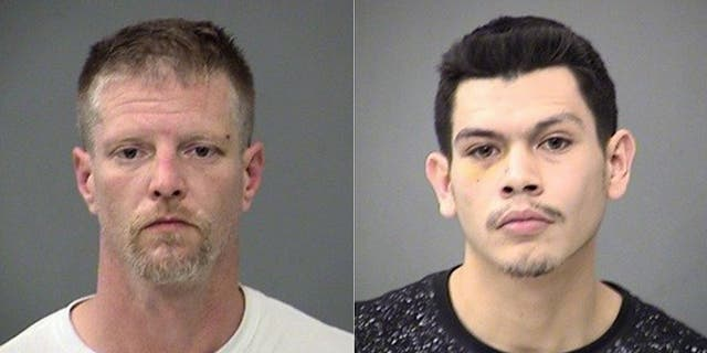 Brandon Kaiser, left, and Alfredo Vazquez were linked to the shootings of two judges in Indianapolis, authorities say. (Marion County Sheriff's Department)