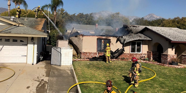 The single-engine Cirrus SR22 crashed into the home on West 15th Street in Upland, Calif. around 11 a.m. on Thursday under unknown circumstances, according to statement sent to Fox News from The Federal Aviation Administration (FAA).