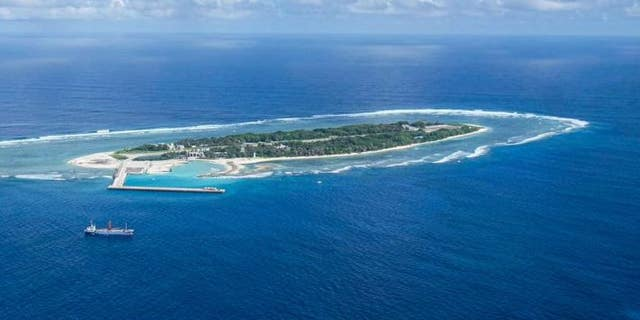 One of the multiple artificial islands in the South China Sea.