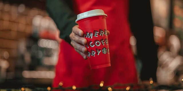 "This year's reusable cup will be free for the first customers who offer a ""holiday beverage"" at participating Starbucks locations on Nov. 7, but only while supplies last."