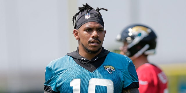 Jacksonville Jaguars wide receiver Terrelle Pryor Sr. (10) during OTAs on June 3, 2019 at DreamFinders Homes Practice Facility in Jacksonville, Fl. (Photo by David Rosenblum/Icon Sportswire via Getty Images)