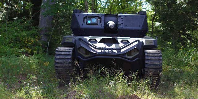 Textron Systems' Ripsaw M5 - file photo. The Ripsaw M5 is Textron Systems' offering for the Army's Robotic Combat Vehicle (RCV) program.