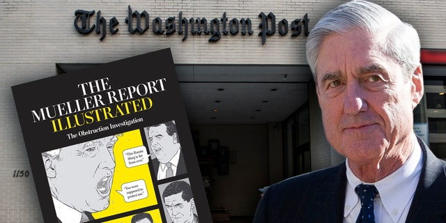 The Washington Post faced backlash over its announcement of a forthcoming graphic novel about the Mueller report. (BRENDAN SMIALOWSKI/AFP via Getty Images, Montage)