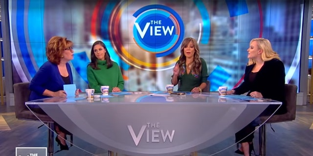 """Joy Behar, far left, and Meghan McCain, far right, had an explosive back-and-forth on """"The View."""""""