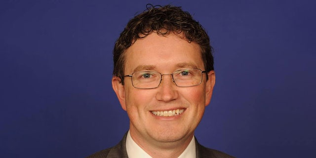 A stopgap funding bill of House lawmakers extends surveillance-related provisions of the USA Patriot Act that expire Dec. 15 for another three months. Rep. Thomas Massie, R-Ky., offered a strong opposition on his Facebook page early Tuesday morning. (Facebook)