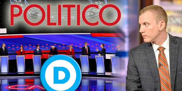The DNC reportedly pushed back at Politico for planning to include Tim Alberta, right, as a debate moderator. (William B. Plowman/NBC/NBC Newswire/NBCUniversal via Getty Images, Montage)