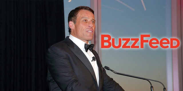 Tony Robbins speaks at the 2017 Graduation Gala to benefit Happy Hearts Fund at One World Trade Center Observatory in New York City. (Paul Zimmerman/Getty Images)