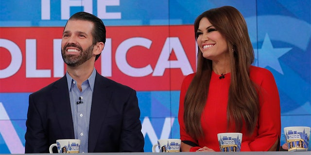 "Donald Trump Jr. and Kimberly Guilfoyle appearing on a Nov. 7 episode of ABC's ""The View."" (Photo by Lou Rocco/ABC via Getty Images) DONALD TRUMP JR., KIMBERLY GUILFOYLE"