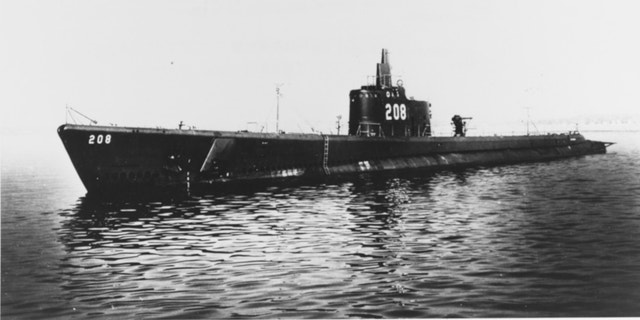 The USS Grayback was photographed in 1941. (Naval History and Heritage Comand. Catalog Number: NH 53771)