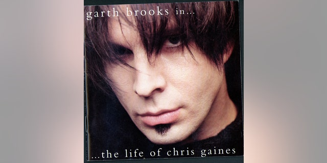 "CD cover of country musician Garth Brook's new pop-rock album ""Garth Brooks in ... the Life of Chris Gaines."""