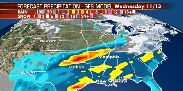 A possible coastal storm may bring snow to the major cities in the Northeast by early next week.