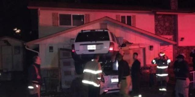 A crash in which one car was left on top of the other in a residential area of Walla Walla.