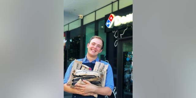 Zach Gracie, 21, will today step into the role and work alongside Domino's Australia's Culinary and Innovation Chef Michael Treacy