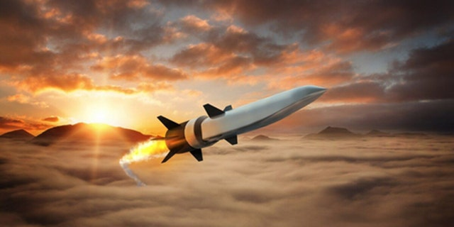 Artist's impression of a hypersonic weapon. (Raytheon)