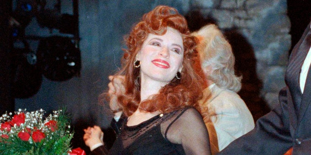 """Ann Crumb at the curtain call for the Andrew Lloyd Webber musical """"Aspects of Love"""" on opening night in New York in 1990."""