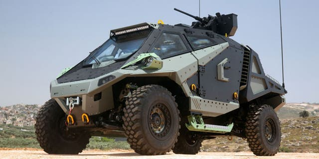 The Mantis APC was designed by Israeli firm Carmor.