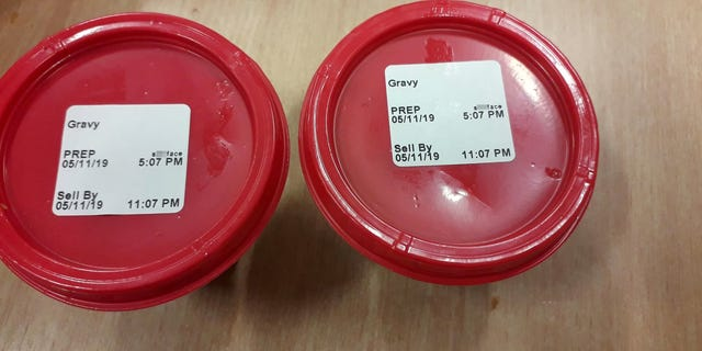 """Customer Karl Cooper said his gravy had the word """"s---face"""" printed on top of it."""