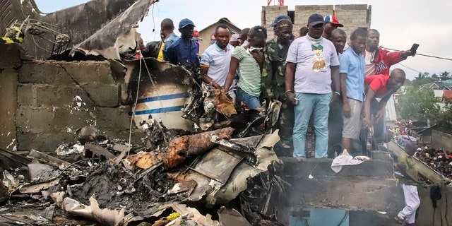 Westlake Legal Group congo-crash-1 Congo plane crashes into homes in African town leaving at least 17 dead Stephen Sorace fox-news/world/world-regions/africa fox-news/world/disasters/transportation fox news fnc/world fnc article 2f8552c1-b3b4-5894-a56e-c0cfbe2c6a32