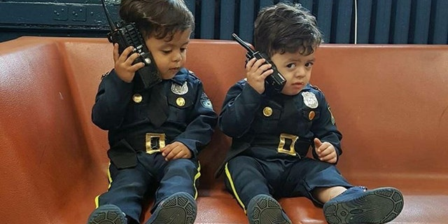 Westlake Legal Group cop-kids-5 Toddler 'NYPD lieutenant' twins travel the country to honor police officers Krystina Alarcon fox-news/us/personal-freedoms/proud-american fox-news/us/crime/police-and-law-enforcement fox-news/good-news fox news fnc/us fnc article 592f9613-f42c-5565-98b5-3a98f124e54d