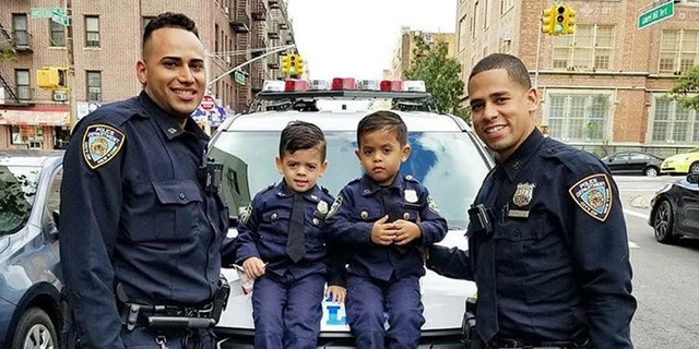 Westlake Legal Group cop-kids-6 Toddler 'NYPD lieutenant' twins travel the country to honor police officers Krystina Alarcon fox-news/us/personal-freedoms/proud-american fox-news/us/crime/police-and-law-enforcement fox-news/good-news fox news fnc/us fnc article 592f9613-f42c-5565-98b5-3a98f124e54d