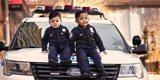 Westlake Legal Group cop-kids1 Toddler 'NYPD lieutenant' twins travel the country to honor police officers Krystina Alarcon fox-news/us/personal-freedoms/proud-american fox-news/us/crime/police-and-law-enforcement fox-news/good-news fox news fnc/us fnc article 592f9613-f42c-5565-98b5-3a98f124e54d