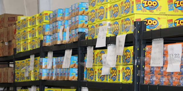 Supplies in a migrant detention facility in Texas. (Adam Shaw/Fox News)