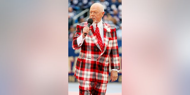 Don Cherry of Hockey Night in Canada attends the 2016 Tim Hortons NHL Heritage Classic Alumni Game between the Edmonton Oilers alumni and the Winnipeg Jets alumni at Investors Group Field on October 22, 2016 in Winnipeg, Canada. (Photo by Jeff Vinnick/NHLI via Getty Images)