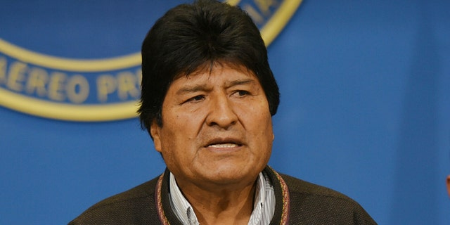 Evo Morales resigned earlier this month (Enzo De Luca/Agencia Boliviana de Informacion via AP)