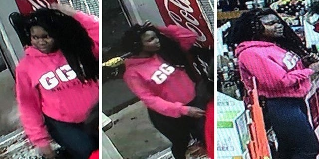 Police released several photos of Alexis Crawford, showing her inside a liquor store prior to her disappearance.