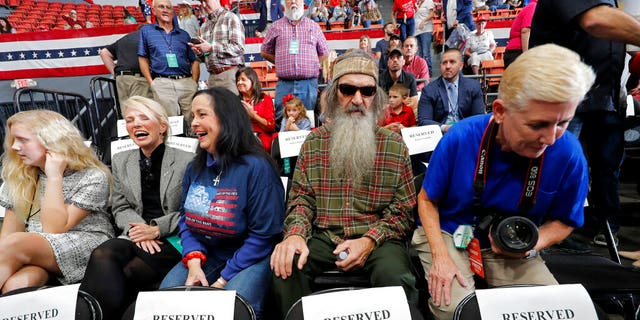 Phil Robertson, second from right, with wife Marsha