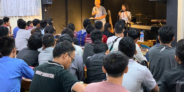 Francis Chan speaks in Myanmar this summer on a vision trip with others from his Crazy Love Ministries team.