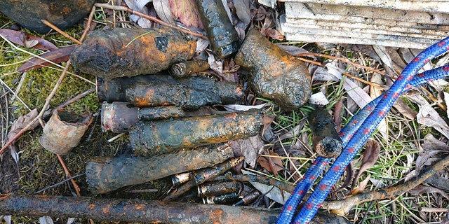 """Three children fished out World War II-era ammunition using a """"strong magnet"""" over the weekend, according to police."""