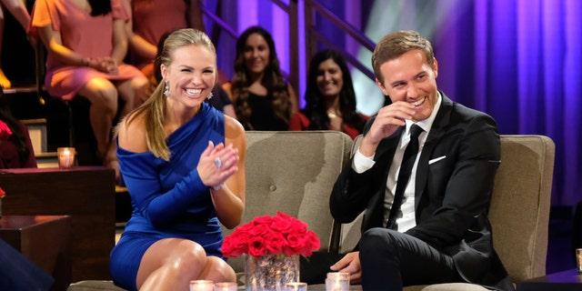 """The Bachelorette: Season Finale Part 1"" - Hannah Brown, left, and Peter Weber."