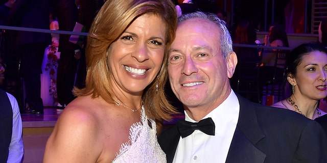 Hoda Kotb and Joel Schiffman attend the 2018 TIME 100 Gala at Jazz at Lincoln Center on April 24, 2018 in New York City. The couple announced their engagement on November 25, 2019.