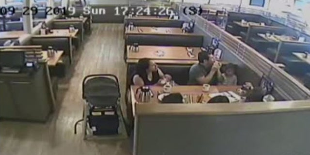 Horrified patrons, including a woman with a baby, quickly scattered from the area.