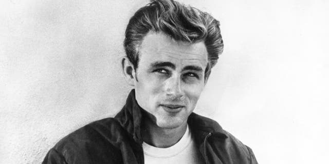 Actor James Dean poses for a Warner Bros broadside shot for his film 'Rebel Without A Cause' in 1955 in Los Angeles, California. (Photo by Michael Ochs Archives/Getty Images)