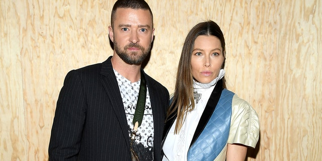 Justin Timberlake and Jessica Biel attend the Louis Vuitton Womenswear Spring/Summer 2020 show as part of Paris Fashion Week on October 01, 2019 in Paris, France. (Photo by Pascal Le Segretain/Getty Images)