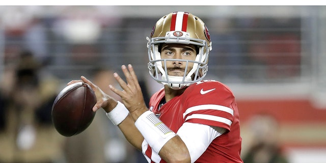 Garoppolo and the 49ers won the last five games of the 2017 season. (AP Photo/Ben Margot)