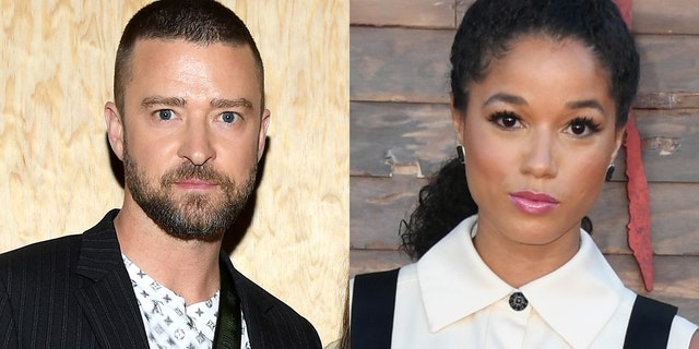 """Justin Timberlake, left, and his """"Palmer"""" co-star Alisha Wainwright, right, were spotted holding hands at a New Orleans bar last month."""