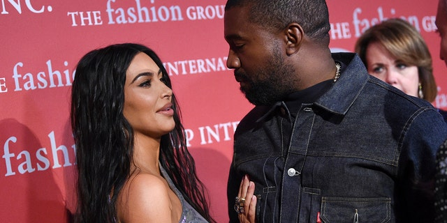 "Recording artist Kanye West, right, and wife Kim Kardashian West attend The Fashion Group International's annual ""Night of Stars"" gala at Cipriani Wall Street on Thursday, Oct. 24, 2019, in New York."