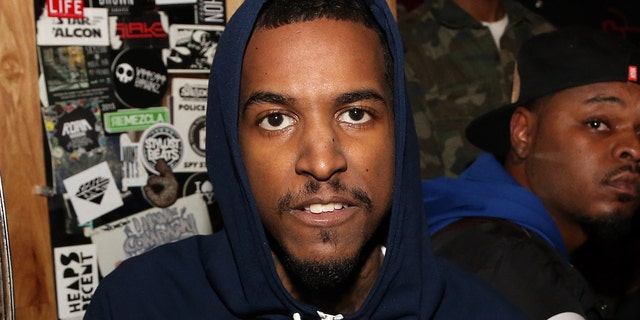 Rapper Lil Reese backstage at Webster Hall on January 12, 2016, in New York City.