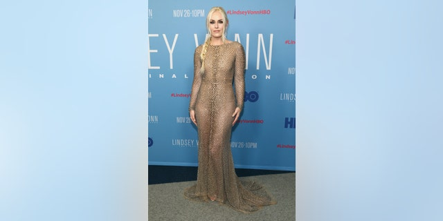 """Lindsey Vonn attends the premiere of HBO's """"Lindsey Vonn: The Final Season"""" at Writers Guild Theater on November 07, 2019 in Beverly Hills, California."""