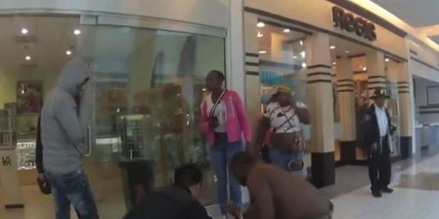 Two Army recruiters responded to a mall shooting in California over the summer and provided life-saving aid to two wounded teenagers.