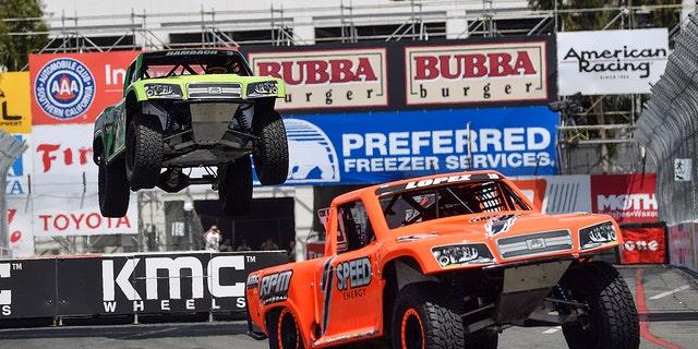 Stadium Super Trucks are part of Long Beach, California's annual street racing events.