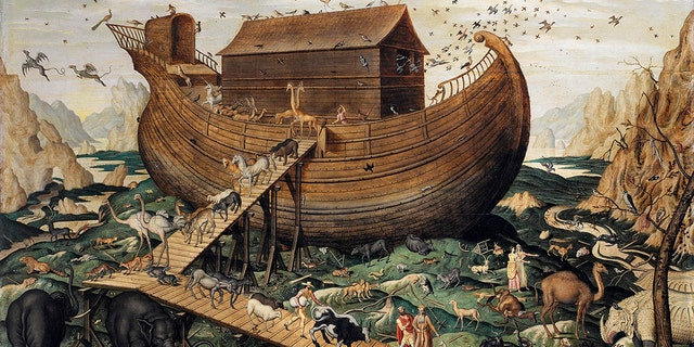 The Noah's Ark on Mount Ararat, 1570. From a private collection. Artist De Myle, Simon (active ca. 1570). (Credit: Fine Art Images/Heritage Images/Getty Images)