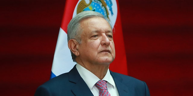 Andres Manuel Lopez Obrador, President of Mexico poses during a state visit to Mexico at Palacio Nacional on October 21, 2019 in Mexico City, Mexico.